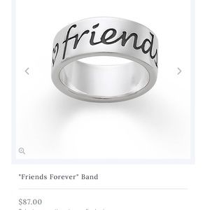 James Avery Friends Forever Ring Band